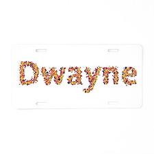 Dwayne Fiesta Aluminum License Plate