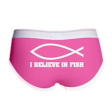 I believe in fish Women's Boy Brief