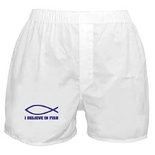 I believe in fish Boxer Shorts