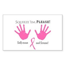 Breast Cancer Squeeze 'em Decal