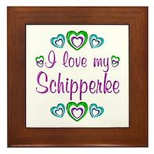 Love My Schipperke Framed Tile
