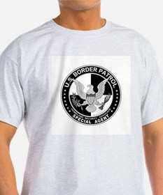 Secure Our Borders US Border Ash Grey T-Shirt
