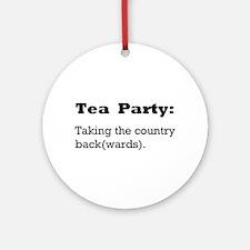 Tea Party Slogan Ornament (Round)