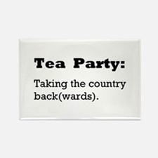 Tea Party Slogan Rectangle Magnet