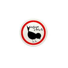 Vegan Chick Mini Button