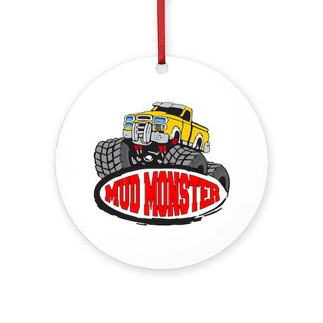 Mud Monster Ornament (Round)