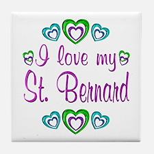 Love My St. Bernard Tile Coaster