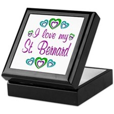 Love My St. Bernard Keepsake Box