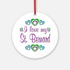 Love My St. Bernard Ornament (Round)