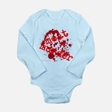 'Meat Is Muder' Long Sleeve Infant Bodysuit