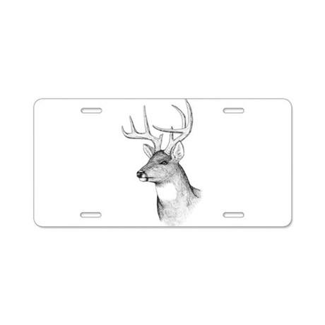 8 Point Buck Aluminum License Plate