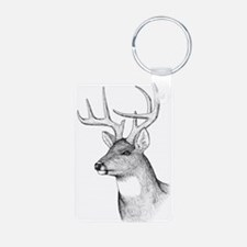 8 Point Buck Aluminum Photo Keychain