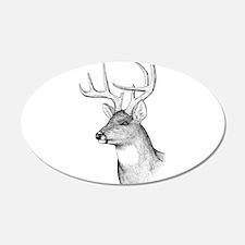 8 Point Buck 22x14 Oval Wall Peel