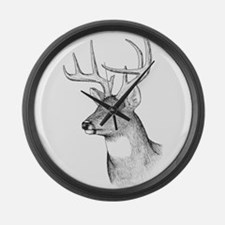 8 Point Buck Large Wall Clock