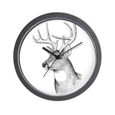 8 Point Buck Wall Clock