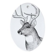 8 Point Buck Ornament (Oval)
