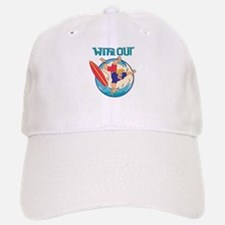 Wipe Out Surfer Baseball Baseball Cap