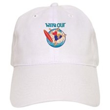 Wipe Out Surfer Baseball Cap