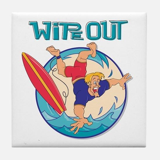 Wipe Out Surfer Tile Coaster