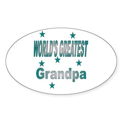 World's Greatest Grandpa Oval Decal