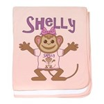 Little Monkey Shelly baby blanket