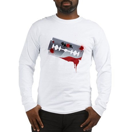Emo Razor Blade Long Sleeve T-Shirt