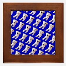 Munchin Maltese Blue 4Selia Framed Tile