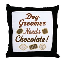 Dog Groomer Gift Funny Throw Pillow