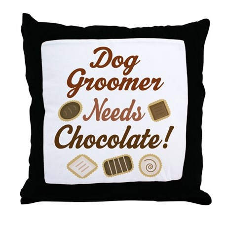 Dog Groomer Gift Funny Throw Pillow