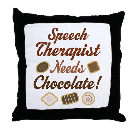 Speech Therapist Gift Funny Throw Pillow