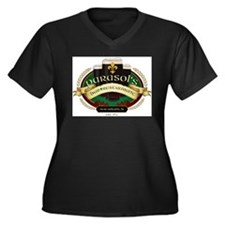 Cute Bars Women's Plus Size V-Neck Dark T-Shirt