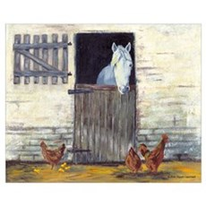 Horse in Stall Framed Print