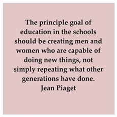 Jean Piaget quotes Poster