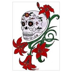 sugar skull 1 Framed Print