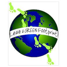 Green Footprints Poster