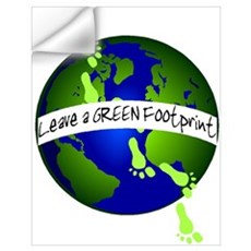 Green Footprints Wall Decal