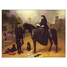 Queen Victoria on a horse. Framed Print