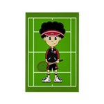 Cute Tennis Boy on Court Magnet (100 Pk)