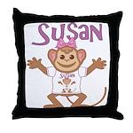 Little Monkey Susan Throw Pillow