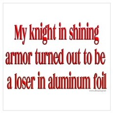 Knight in Foil Poster