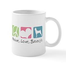 Peace, Love, Basenjis Mug