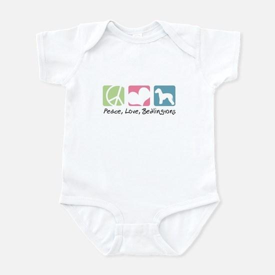 Peace, Love, Bedlingtons Infant Bodysuit