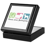 Peace, Love, Bedlingtons Keepsake Box