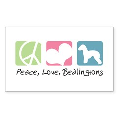 Peace, Love, Bedlingtons Decal