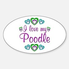 Love My Poodle Decal