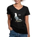 Blue Saddle Homer Women's V-Neck Dark T-Shirt