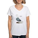 Blue Saddle Homer Women's V-Neck T-Shirt