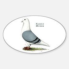 Blue Saddle Homer Sticker (Oval)