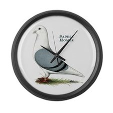 Blue Saddle Homer Large Wall Clock