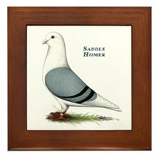 Blue Saddle Homer Framed Tile